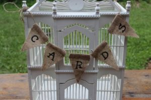 Burlap Triangular Cards Banner