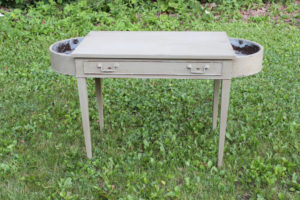 Green Dressing Table with Planters