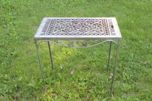 Silver Grate Table