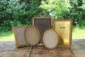 Various Brass Picture Frames