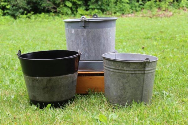 Various Galvanized Buckets