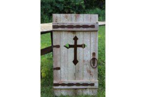 Wood Cross Cupboard Door