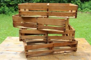 Wood Slatted Crates-Short