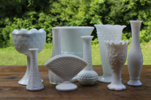 Milk Glass Vases -Medium