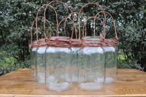 Twine Hanging Clear Quart Mason Jars- Vintique Rental WI