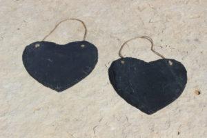 Hanging Heart Slates