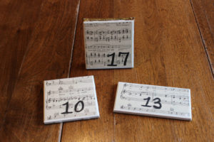 Sheet Music Tile Table Numbers