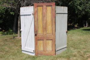Rusty & White Hinged Door Backdrop