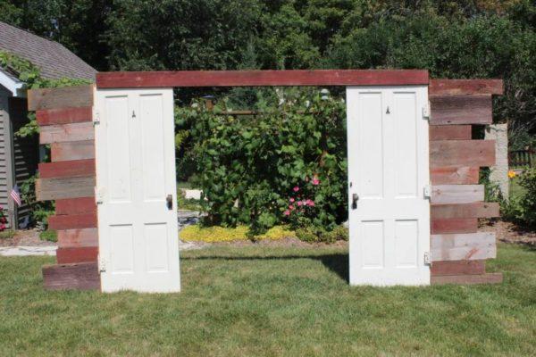 Red Barn Wood Door Entryway