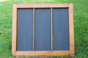 3 Section Chalkboard Window