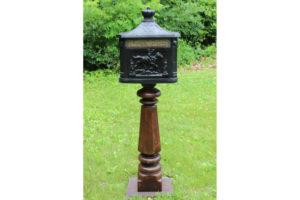 Black Victorian Letter Box