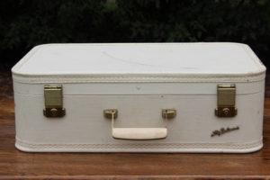 Cream Suitcase- L