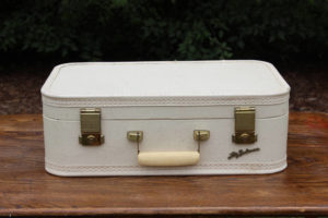 Cream and Lavender Suitcase- M