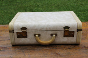 Cream and Gold Suitcase