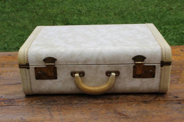 Cream and Gold Suitcase
