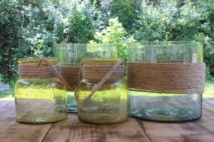 Twine Wrapped Vases -Large