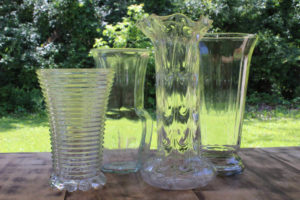 Clear Glass Vases -L