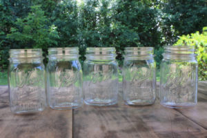 Clear Pint Mason Jars- Vintique Rental WI