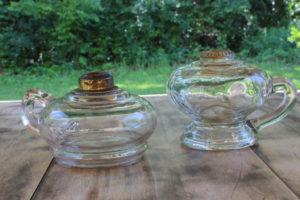 Oil Lamp Base Candlesticks -Short- Vintique Rental WI