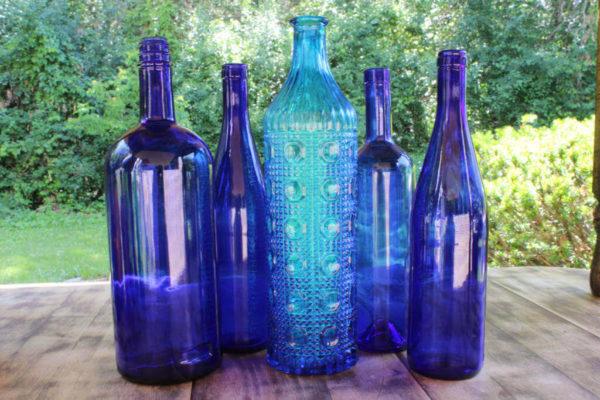 Assorted Blue Bottles -L Vintique Rental WI