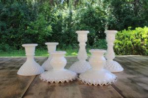 Milk Glass Candlesticks
