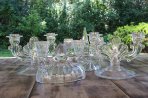 Double and Triple Glass Candlesticks