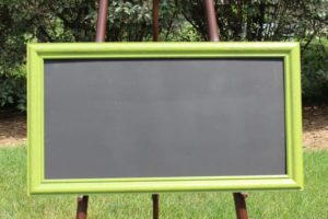 F62: Green Rectangular Chalkboard