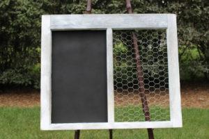 F29: Chalkboard & Chicken Wire Frame