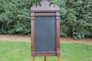 F21: Ornate Wood Chalkboard