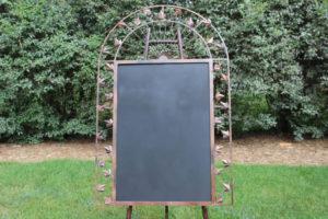 F22: Curved Topped Metal Leaf Chalkboard