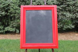 F38: Red Chalkboard