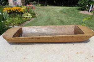 Wood Dough Bowl- L