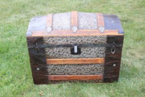 Black & Silver Dome Trunk