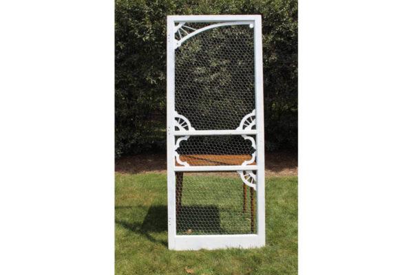 White Chicken Wire Screen Door