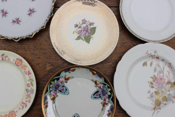 Mismatched Dessert Plates