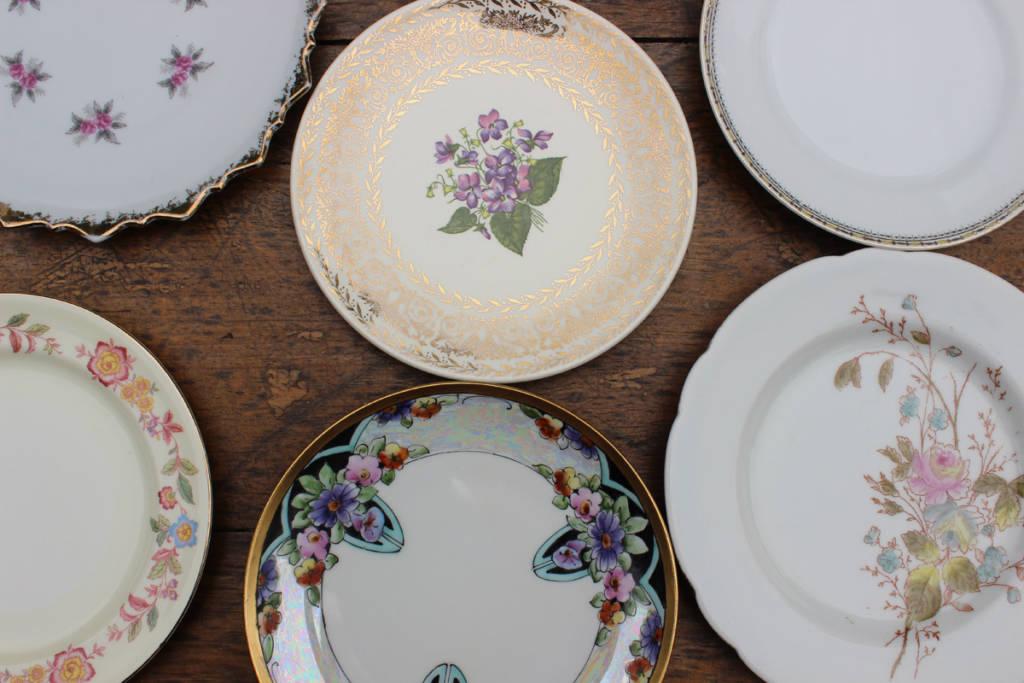 Mismatched Dessert Plates & Mismatched Dessert Plates   Vintique Rental