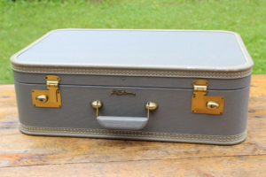 Pale Blue and Gold Suitcase