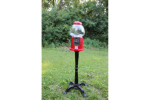 Red Standing Gumball Machine