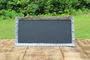 F108: Silver Metal Rectangle Chalkboard