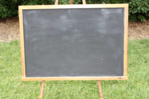 F74: Thin Rustic Wood Chalkboard