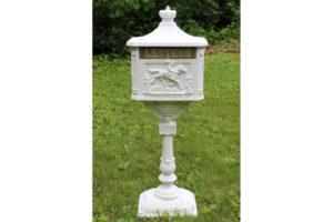 White Victorian Letter Box