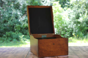 Wooden Box with Chalkboard