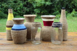 Twine Wrapped Vases -L