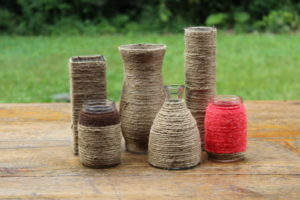 Twine Wrapped Vases -S/M