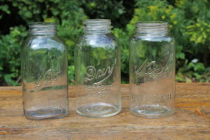 Clear Half Gallon Mason Jars- Vintique Rental WI