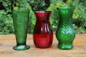Colored Glass Vases -Large