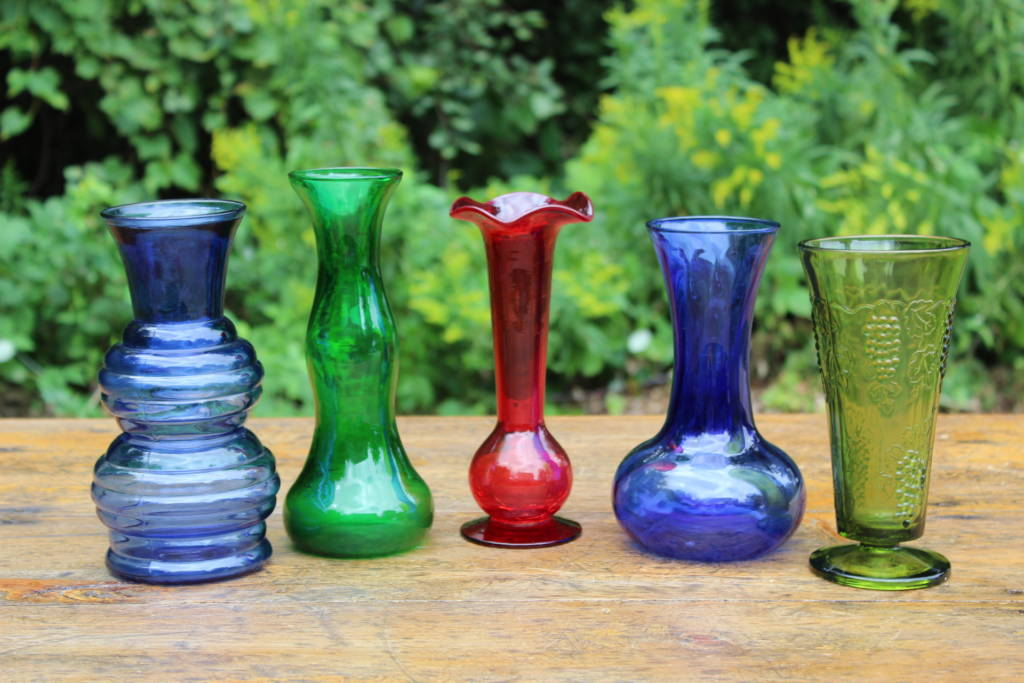 colored glass vases medium - Colored Glass Vases