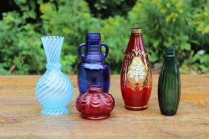Colored Glass Vases -Small