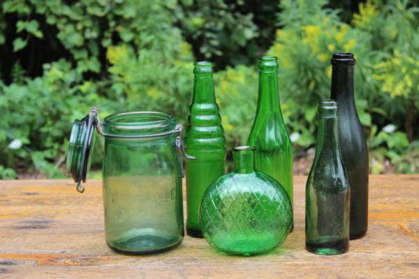 Assorted Green Bottles -M Vintique Rental WI