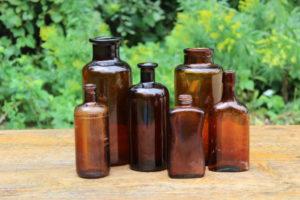Assorted Brown Bottles -M Vintique Rental WI